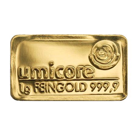 Lingot d'or d'1 grammes