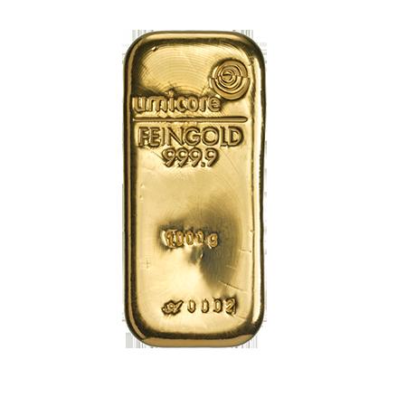 Lingot d'or de 1000 grammes