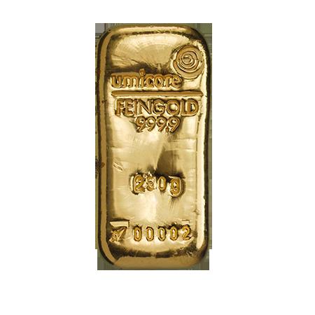 Lingot d'or de 250 grammes