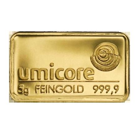 Lingot d'or de 5 grammes