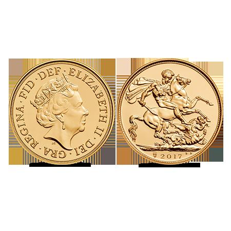 Souverain britannique en or