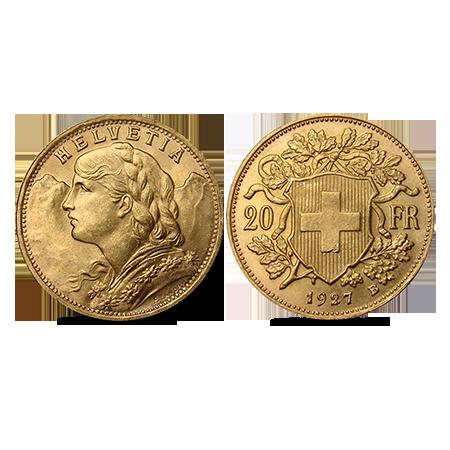 Vreneli suisse en or