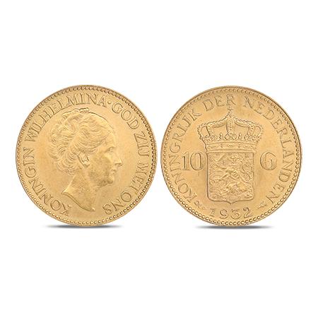 Dix florins néerlandais en or