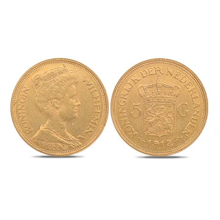 Cinq florins néerlandais en or