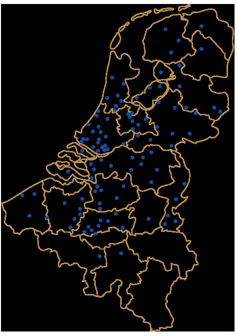 Notre emplacements en Belgique